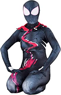 Heroscostume Lycra Spandex Black Spider Girl Halloween Cosplay Costume Fullbody Zentai Suit Female and Kids