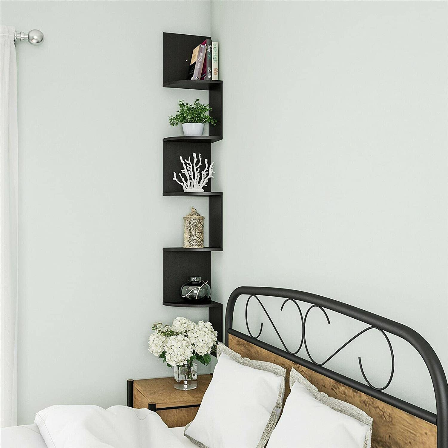 Max 72% OFF Tall Floating Corner Shelf New Free Shipping 5 Tiers Accent 48 Room Any Eas Inches
