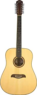 Best Oscar Schmidt OD312 Natural 12-String Dreadnought Guitar- Natural featuring Handcrafted quality.Rosewood fingerboard & bridge.Fully adjustable truss rod and Chrome die cast tuners Review