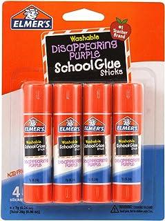 Elmer's Disappearing Purple School Glue Sticks, 0.24 oz Each, 4 Sticks per Pack (E543)