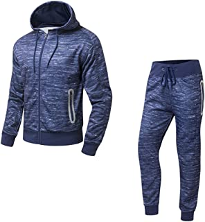ad00d32ee2adc AIRAVATA Homme Ensemble Pantalon de Sport Sweatshirt à Capuche Jogging  Survêtement