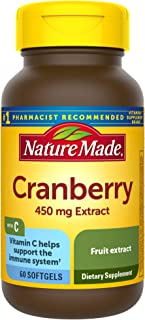 Nature Made Cranberry + Vitamin C Softgels, 60 Count