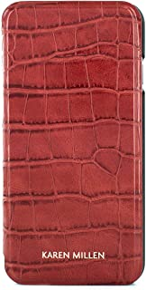 Karen Millen Fashion Premium Quality Folio Case with Card Slot for iPhone 8 Plus / 7 Plus – Red Croc