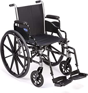 """Invacare Tracer SX5 Wheelchair, With Desk Length Arms and T93HCP Hemi Footrests with Heel Loops, 20"""" Seat Width"""