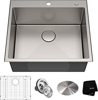 Kraus KHT301-25 Standart PRO Kitchen Stainless Steel Sink, 25 Inch, Single Bowl