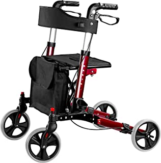Cocold Rollator Walker, Walkers for Seniors Four Wheels Stand Up Folding Walker Rolling Mobility Walking Aid Rollator with...