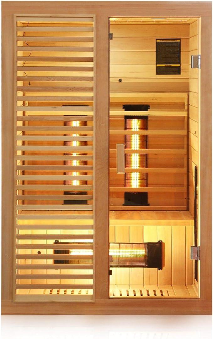 Dewello Infrarotkabine HAMLIN 130x105cm