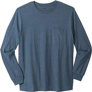KingSize Men's Big & Tall Lightweight Long-Sleeve Crewneck Pocket T-Shirt