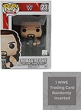 Roman Reigns Funko Pop Vinyl Figure Bundle with 1 WWE Trading Card