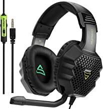 Xbox One, PS4 PS5 Gaming Headset, SUPSOO G811 3.5mm Wired Over Ear Noise Cancelling Gamer Headphones with Mic Volume Contr...