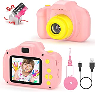 Cámara Fotos Infantil Digital para Niños Juguetes Niña Regalos para Niños Pantalla HD de 2 Pulgadas 1080P Tarjeta de 32GB ...