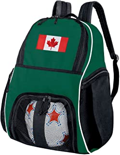 Broad Bay Canada Flag Soccer Backpack or Volleyball Bag Green