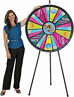 "Marketing Holders 15 to 30 Slot 40"" Black Floor Stand Big Prize Wheel"