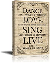wall26 - Dance Like Nobody's Watching Quotes | Canvas Prints Wall Art - 16x24 inches