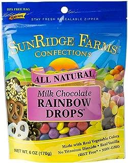 SunRidge Farms Milk Chocolate Rainbow Drops 6 Ounce Bag (Pack of 12)
