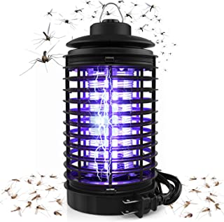 Kenneth Wagner Electric Bug Zapper, Powerful Mosquito Trap, Light-Emitting Mosquito Lamp with Hook, Flying Insect Trap for Indoor(Black)