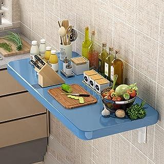 Tables de Salle à Manger Table Pliante Murale, Table Murale à abattant Pliante en Bois Massif, Table À Manger Murale pour ...