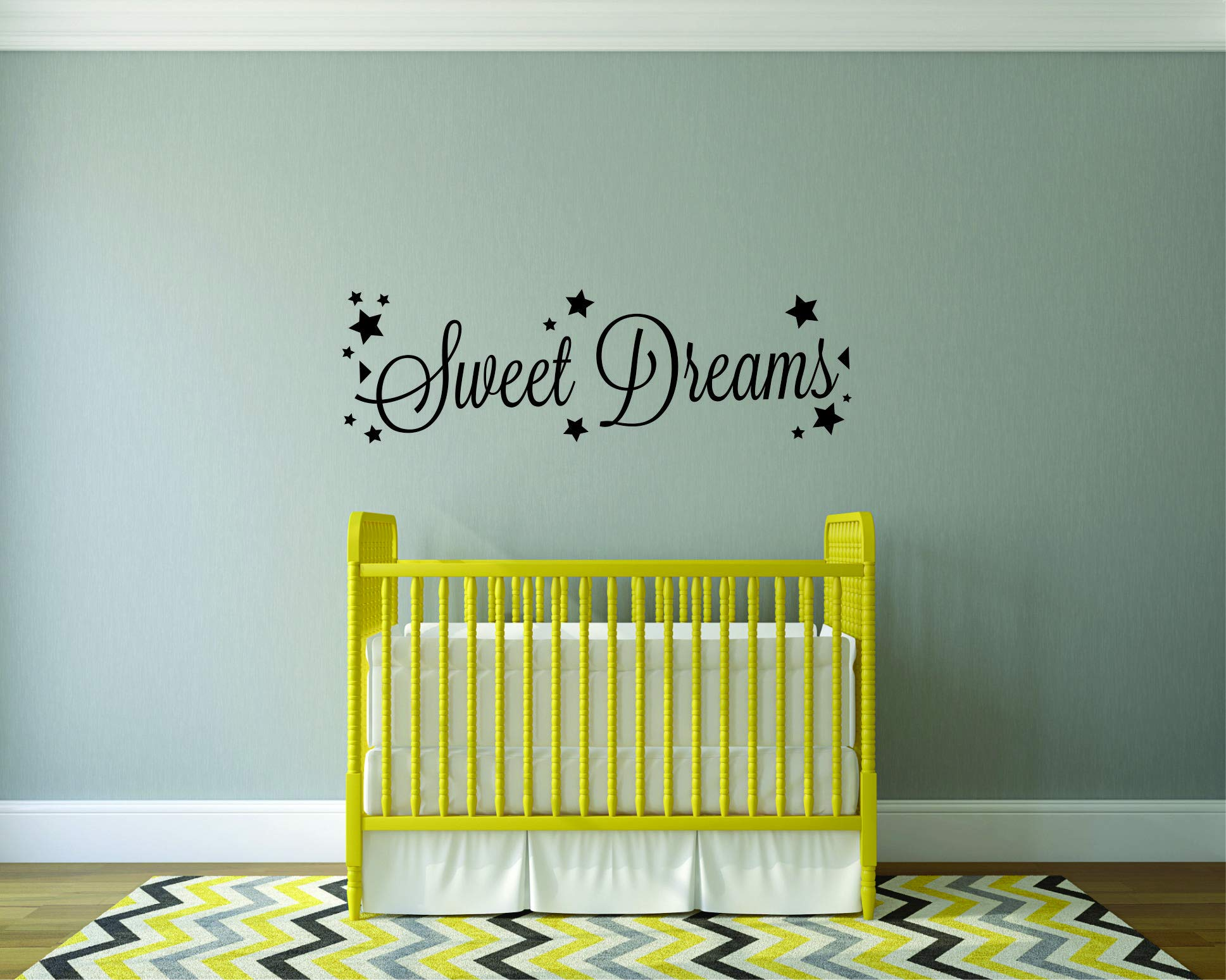 Decal – Vinyl Wall Sticker : Sweet Dreams Quote Home Living Room Bedroom Decor Baby Nursery Good Night Bedtime Babies Rooms Decorations Decor Size: 8 Inches X 30 Inches - - Amazon.com