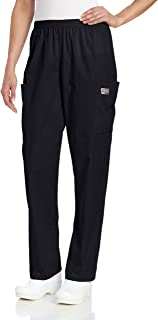 Scrub Zone Women's Durable 2-Pocket Elastic Waist Classic Fit Cargo Scrub Pant