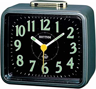 Rhythm Japanese Alarm And Table Clock 4Ra457Wr08 - Green And Black