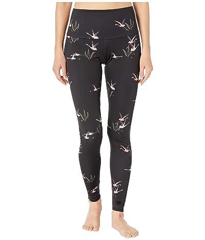 Onzie High Rise Leggings (Pink Flamingo) Women