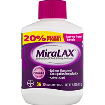 MiraLAX Powder Laxative, 34 Doses, 20.4 Ounce