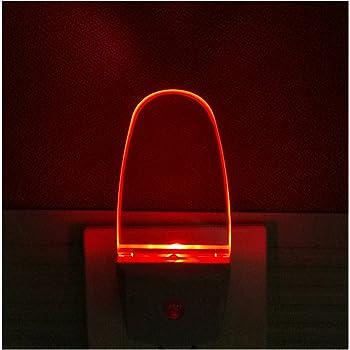 0 5w Plug In Light Sensor Led Red Night Light For Bedroom Bathroom Kitchen Hallway 2 Pack Amazon Com