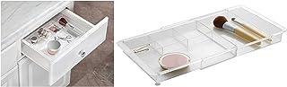 iDesign rangement maquillage, organisateur tiroir extensible en plastique, boîte de rangement pour maquillage ou les acces...