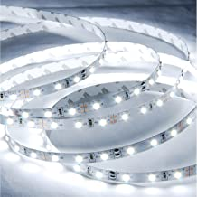 ABI Cool White Flexible LED Light Strip with AC Adapter, 300 LEDs, 5 Meters / 16.4 FT Spool, 12VDC