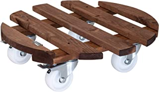 WAGNER Plant trolley PALETTI BIG Ø 45 x 13 cm I For indoor + outdoor use I Flower trolley made of FSC®-certificated solid ...