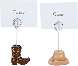 Fun Express - Western Wedding Place Card Holders for Wedding - Party Supplies - Favors - Placecards And Holders - Wedding - 12 Pieces