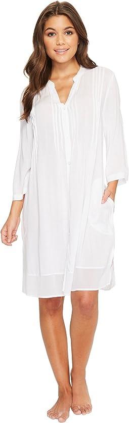 Donna Karan Viscose Slub Woven Sleepshirt