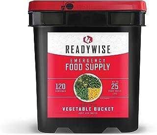 ReadyWise Emergency Food Supply, Freeze Dried Vegetables, 120 Servings