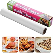Parchment paper 10M Baking Parchment Available on both sides asy to tear Greaseproof wax paper for grilling,Cooking, air f...