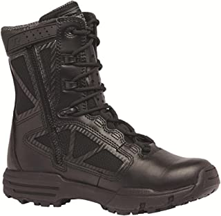 """TACTIAL Research TR Men's TR Chrome TR998Z WP 8"""" Waterproof Side-Zip Boot, Black - 11.5 R"""