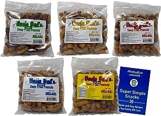 Uncle Bud's Deep Fried Peanuts 5 Flavor Variety - (1) Each: Garlic, Salted, Hot, Cajun, Old Bay (7 Ounces) - Plus Recipe B...
