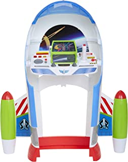 Toy Story Disney 4 Buzz Lightyear Star Command Center with Lights & Sounds! 3 Ways to Play, Flight, Desk Or Launch Modes! Encourage Imagination Play for Any Fan!