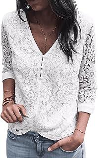 314b63bef6cce Amazon.fr   Chemisier Blanc Dentelle - Femme   Vêtements