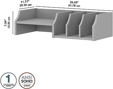 Bush Furniture Key West Desktop Organizer with Shelves, Cape Cod Gray