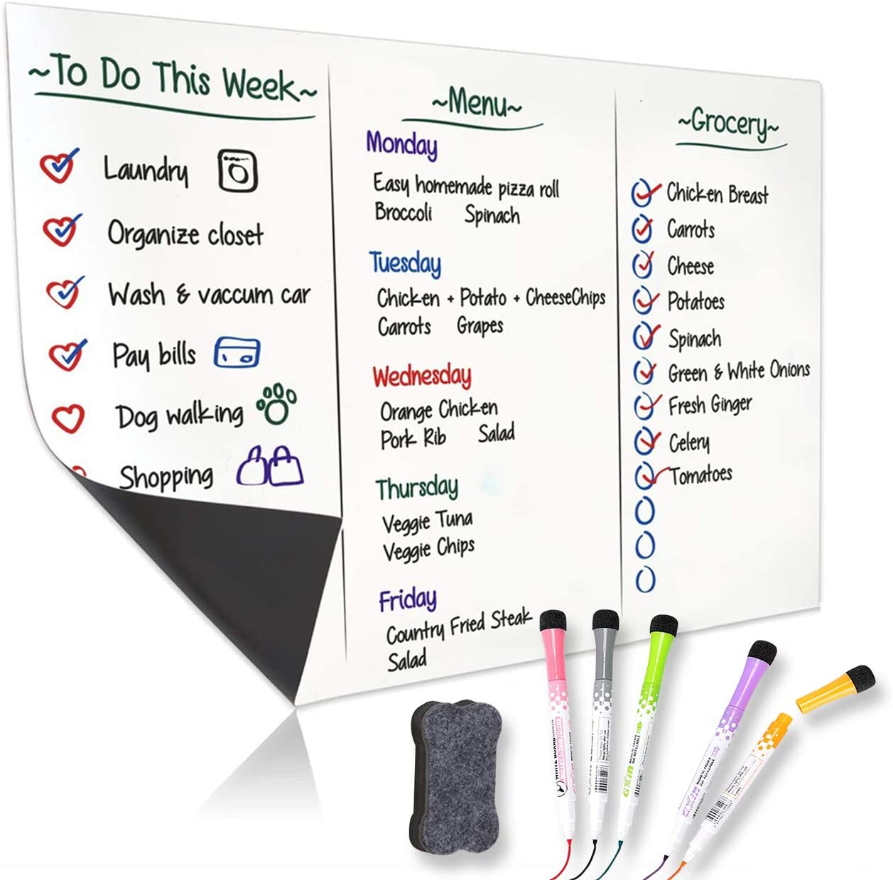 YBINYNA Magnetic Dry Erase Whiteboard 17x Clearance SALE Limited Trust time for Sheet Refrigerator