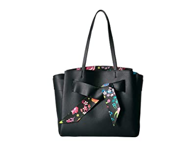 Betsey Johnson Up with a Twist Tote (Black) Tote Handbags