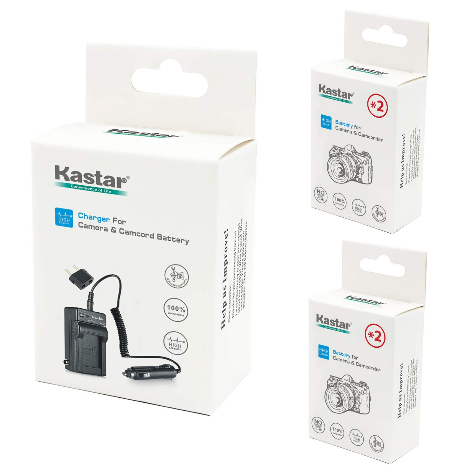 Kastar GOPRO3 Battery (4-Pack) and Charger Kit for GoPro HD HERO3, HERO3+, AHDBT-302 Work with GoPro AHDBT-201, AHDBT-301, AHDBT-302