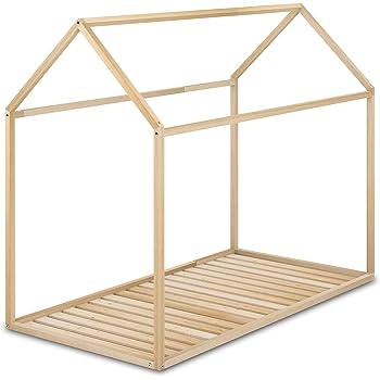 en.casa] Cama para niños de Madera Pino 206x98x142cm Cama Infantil Forma de casa Blanco Mate: Amazon.es: Hogar