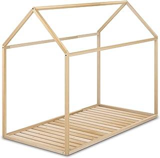 comprar comparacion Cama Infantil Tipo Montessori, Casita Madera Natural para niño y niña, 90 x 190 cm