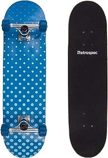 Retrospec Alameda Skateboard Complete with Abec-7 Bearings & Canadian Maple Deck