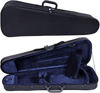 Aileen Basic Professional Triangular Lightweight Suspension Carry Violin Hard Case - 4/4 Full Size Black
