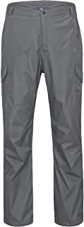 Little Donkey Andy Men's Waterproof Breathable Golf Rain Pant Large gray