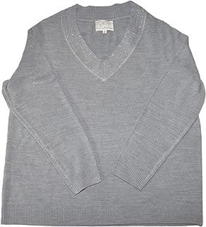 Debbie Morgan V-neck Pullover Sweator (1x)