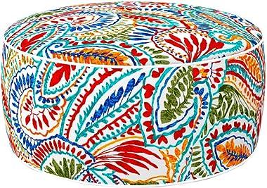 Aktive 79035 Ottoman Pouf Gonflable en Polyester filé imperméable Multicolore 53 x 23 cm