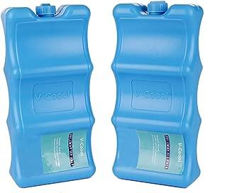 Ice Packs Contoured Shape 2 Pack,Keep Food Beverage Breastmilk Fresh Fits Around Bottles Perfectly